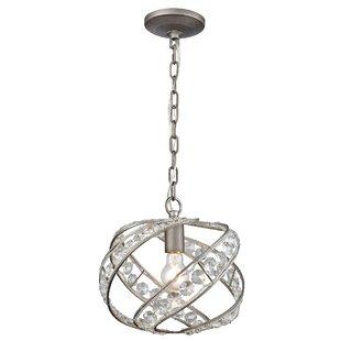 Jaidan 1-Light Crystal Pendant by Rosdorf Park