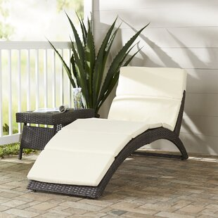 Johnathan Chaise Lounge with Cushion by Wade Logan