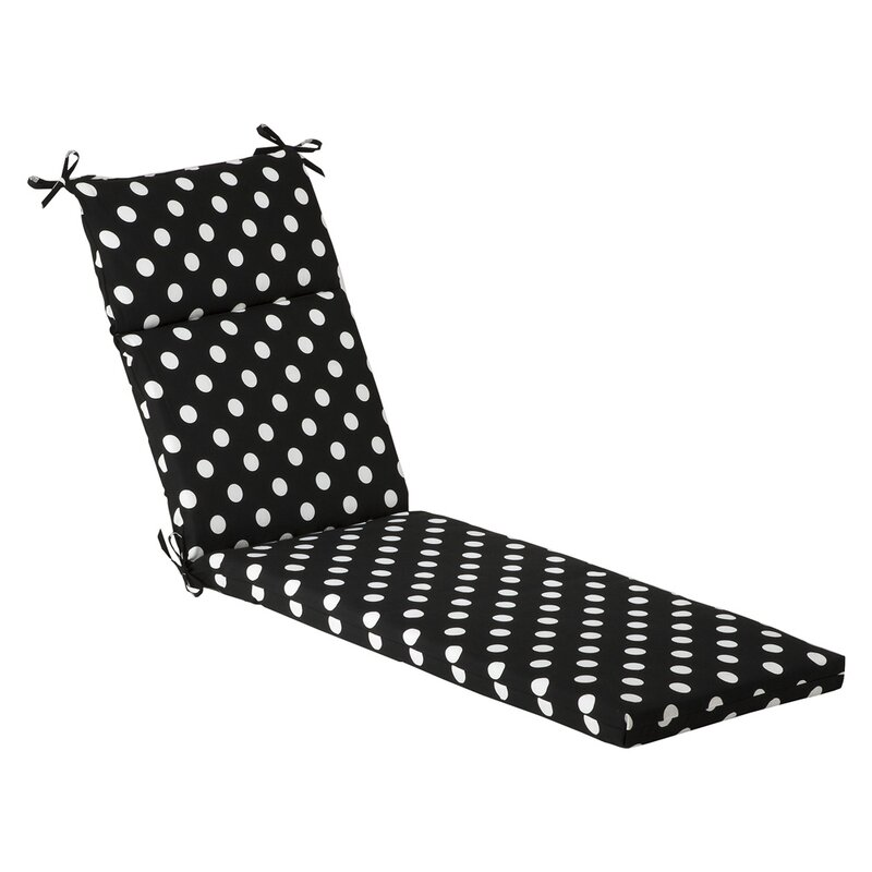 Polka Dot Outdoor Chaise Lounge Cushion  sc 1 st  Wayfair : white chaise lounge cushion - Sectionals, Sofas & Couches