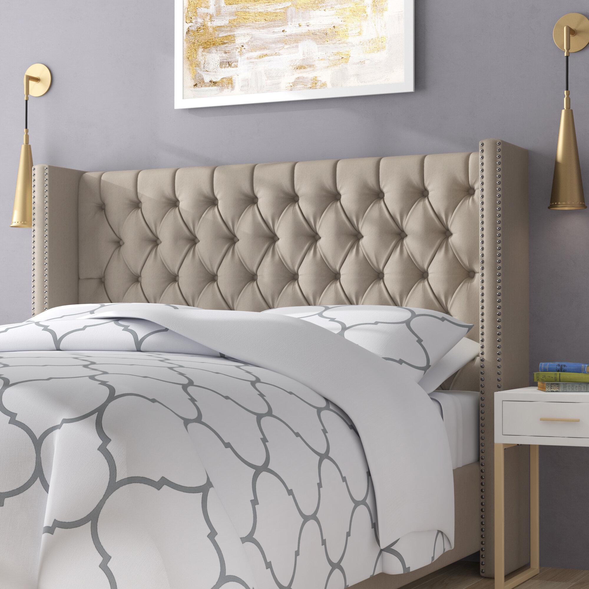 0971bfa3ad5 Alcott Hill Barna Upholstered Platform Bed   Reviews