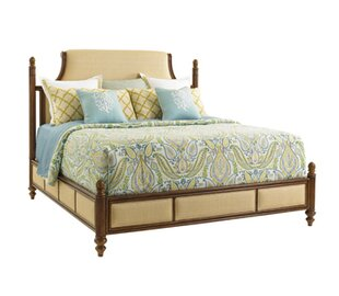 Bali Hai Upholstered Panel Bed