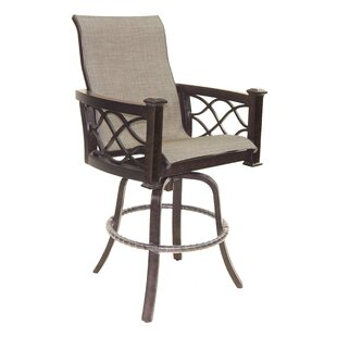La Reserve Sling Swivel Patio Bar Stool by Leona 2019 Coupon