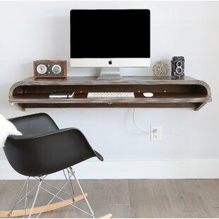 Orange22Modern Minimal Floating Desk with Curved End