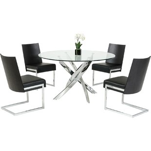 Camron Modern Round 5 Piece Dining Set by Orren Ellis New Design