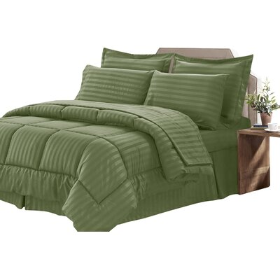 Bay Isle Home Tana 8 Piece Comforter Set Color: Sage, Size: Queen