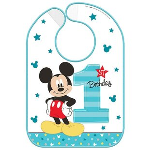 Mickey's Fun To Be One Plastic Disposable Baby Bib
