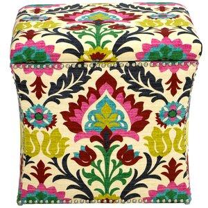 Fleurette Nail Button Storage Ottoman