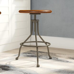 Venice Round Adjustable Height Swivel Bar Stool by Mistana