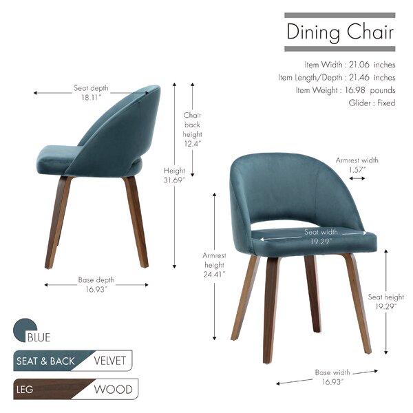 Wrought Studio Aliya Velvet Upholstered Arm Chair Reviews Wayfair