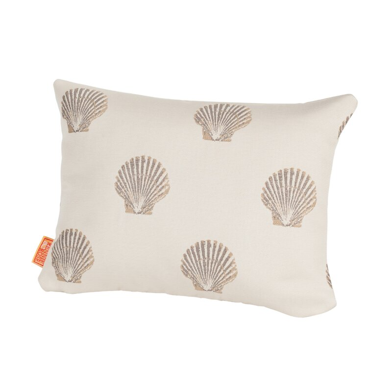 Highland Dunes Benat Scallop Indoor Outdoor Lumbar Pillow Wayfair