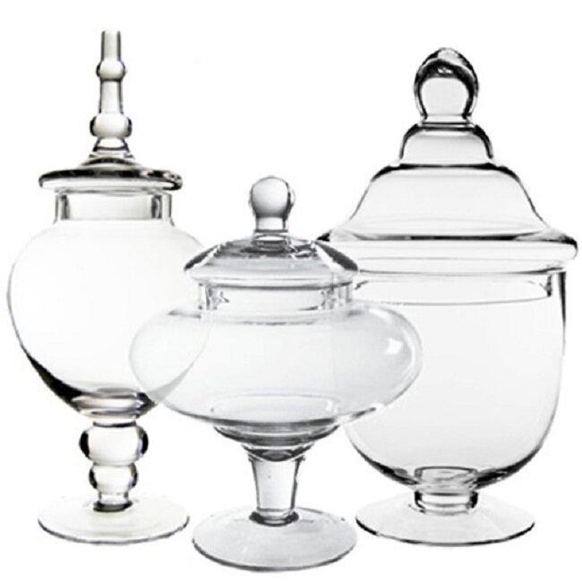 Apothecary Jars Part - 44: Glass Candy Buffet 3 Piece Apothecary Jar Set