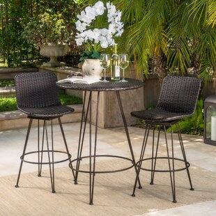 Wrought Studio Prevost Outdoor 3 Piece Bar Set