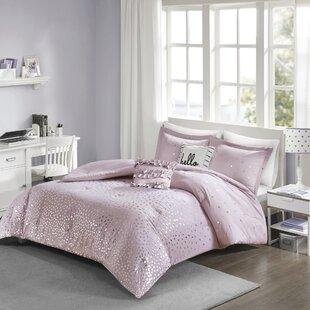Eichelberger Metallic Reversible Comforter Set by Ebern Designs Comparison