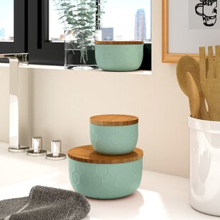 Bergamot 3 Piece Ceramic Mixing Bowl Set