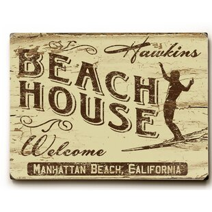 Personalized Welcome Beach House Graphic Art
