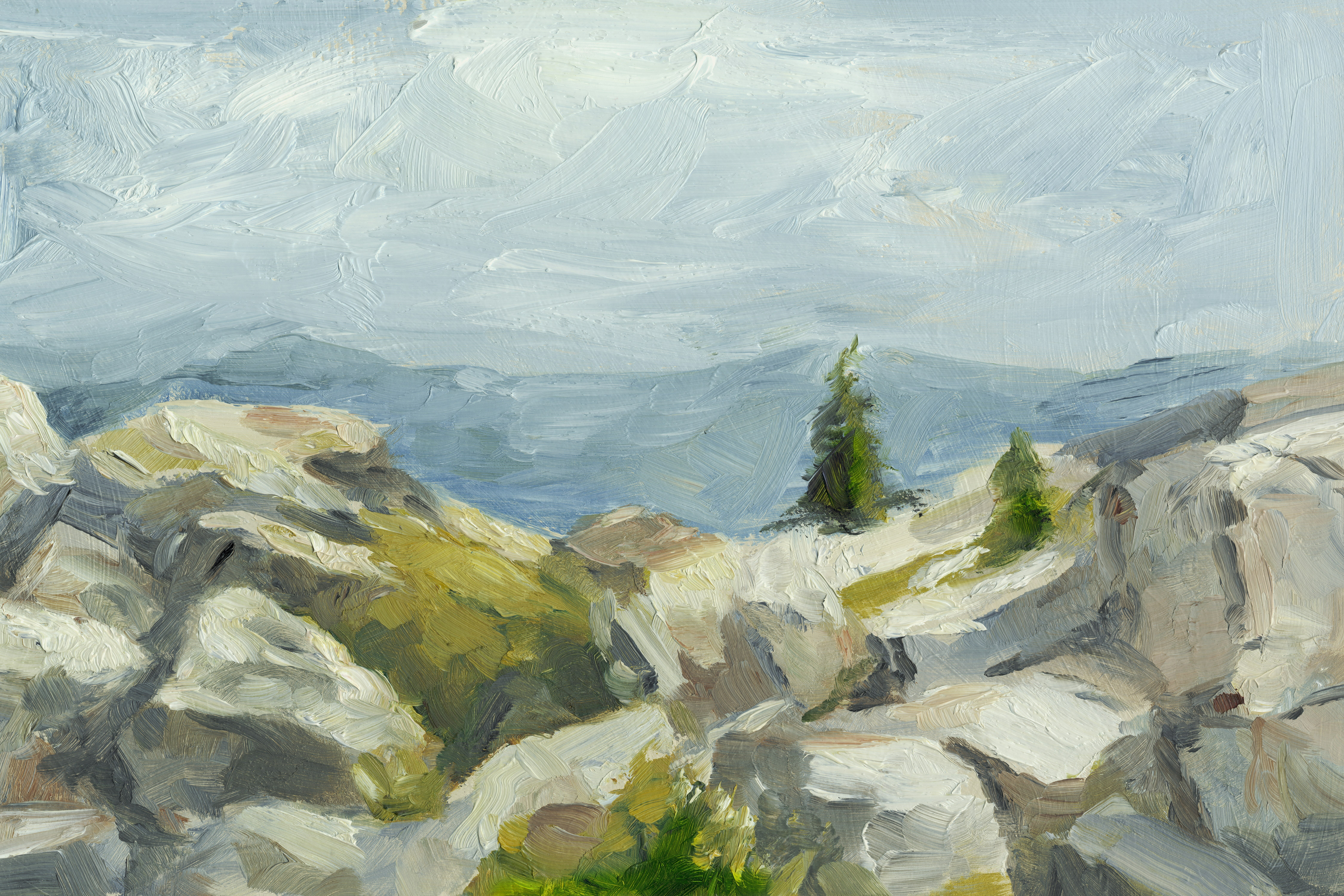 Impasto Mountainside Iii By Ethan Harper Wrapped Canvas Painting Print Reviews Joss Main
