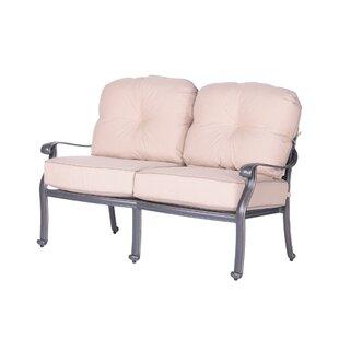 Fleur De Lis Living Bean Loveseat with Cushions