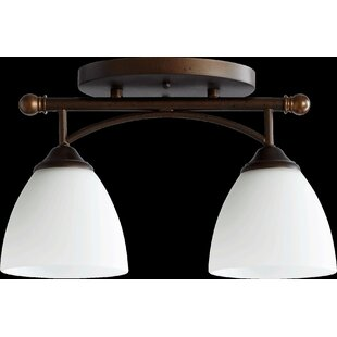 Three Posts Hewlett 2-Light Semi Flush Mount