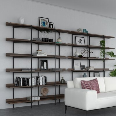 BDI USA Kite 6-Tier Shelf Finish: Toasted Walnut Shelves, Frame Finish: Black Frame