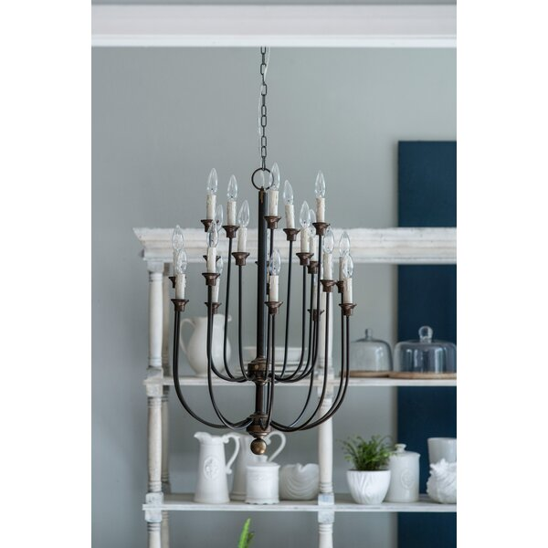 Gracie Oaks Padang 16 Light Candle Style Tiered Chandelier Reviews Wayfair
