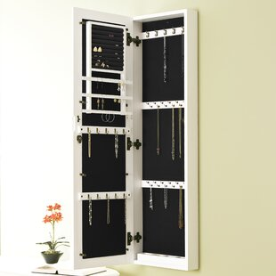 Cecilia Wall Mount Jewelry Armoire With Mirror