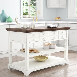 Fortville Kitchen Cart With Wood By Three Posts Buy It Now