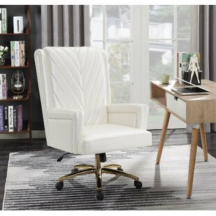 Dedham Executive Chair by Everly Quinn Coupon