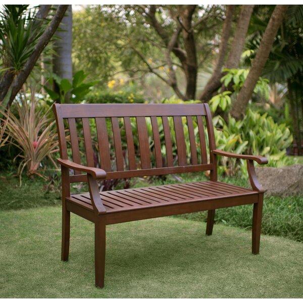 Garden Furniture Bench cambridge casual como wood garden bench & reviews   wayfair