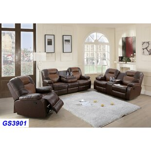 Angelicia 3 Piece Reclining Living Room Set by Red Barrel Studio