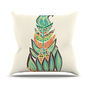 Tribal Feather By Pom Graphic Design Outdoor Throw Pillow By East Urban Home