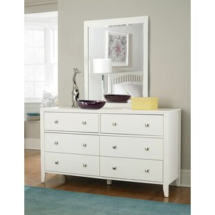 Searching for Susan 6 Drawer Double Dresser with Mirror ByViv + Rae