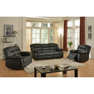 Koury Reclining 3 Piece Living Room Set by Red Barrel Studio
