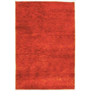 Tennyson Hand Hooked Wool Orange Indoor/Outdoor Rug By Ebern Designs