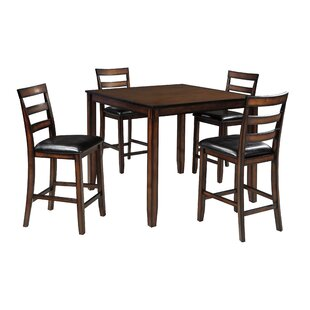 Carolina 5 Piece Counter Height Dining Set by Millwood Pines 2019 Sale