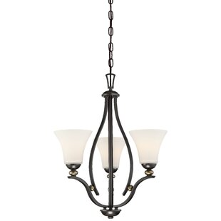Stockton 3-Light Shaded Chandelier by Alcott Hill