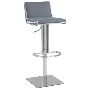Buy luxury Roger Adjustable Height Bar Stool By Orren Ellis