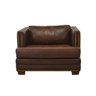 Millbury Genuine Top Grain Armchair by Westland and Birch