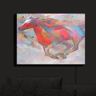 Brayden Studio Smooth Runner I Horses' Print on Fabric