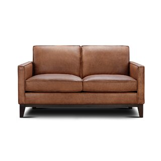Whitson Leather Loveseat by Foundry Select SKU:DE433035 Shop