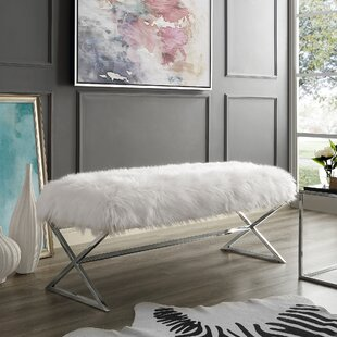 Evonne X-Leg Upholstered Bench