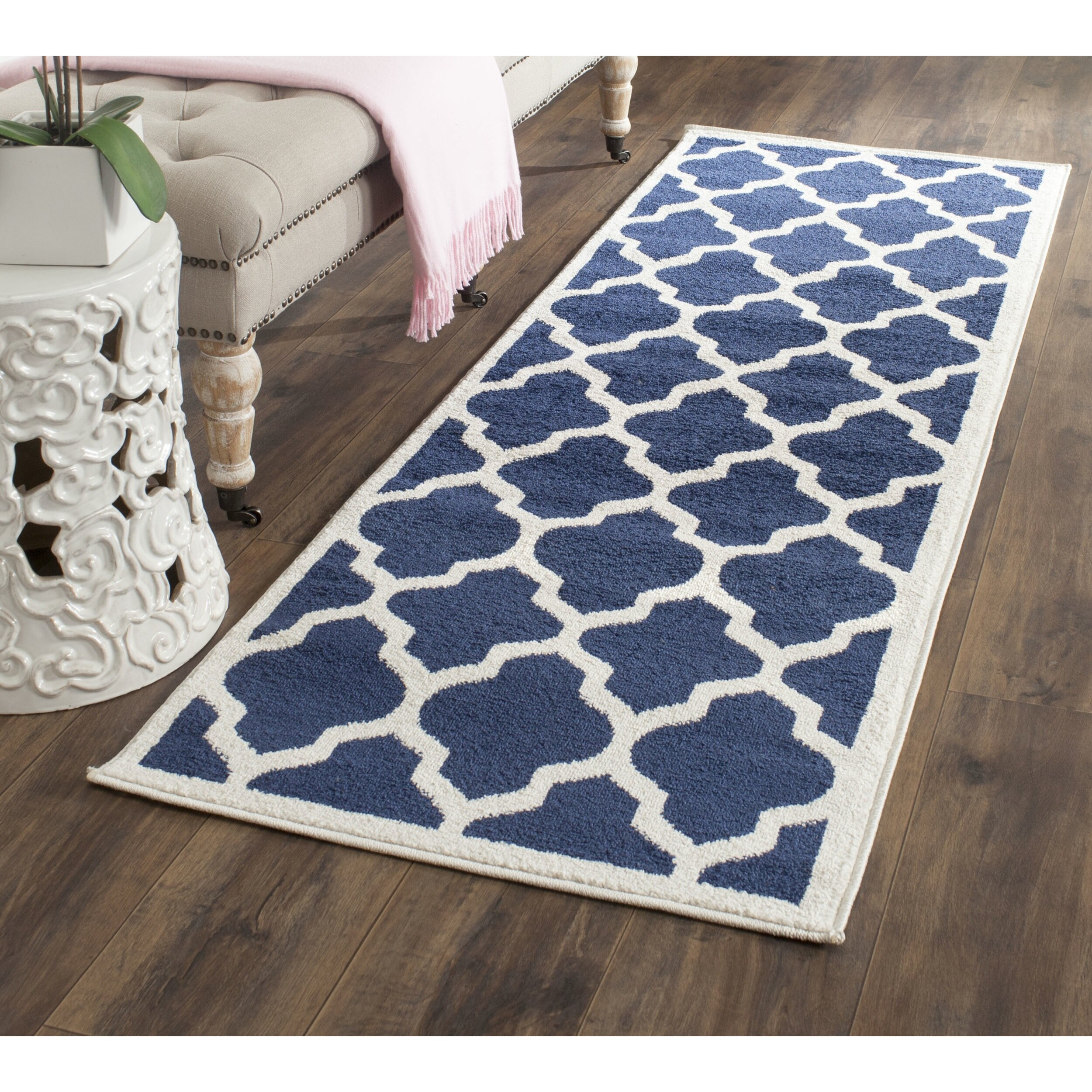 Willa Arlo Interiors Maritza Geometric Navy Area Rug Reviews Wayfair