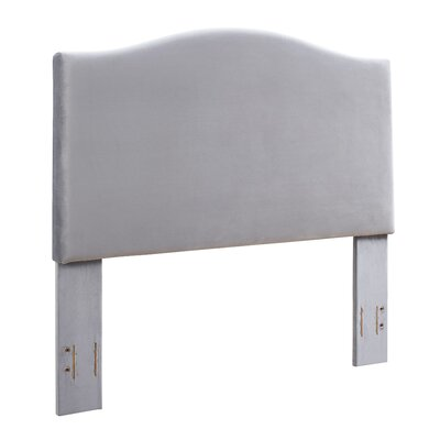 Benedict Camelback Upholstered Panel Headboard Size: Full/Queen, Upholstery: Shale Microfiber by Alcott Hill