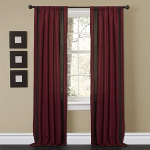 Charming Sand Rod Pocket Curtain Panels (Set of 2)