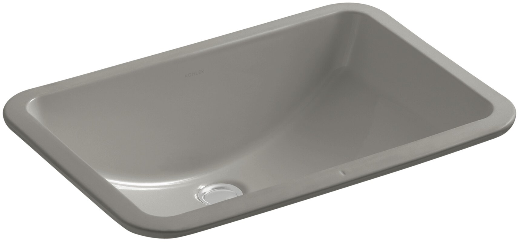 Grey Undermount Bathroom Sink kohler ladena rectangular undermount bathroom sink & reviews | wayfair
