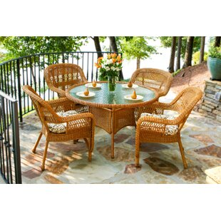 Ray 5 Piece Dining Set with Cushions