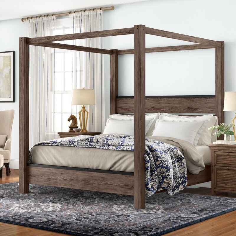 Three Posts Bartow Canopy Bed Reviews Wayfair