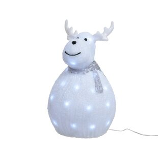 LED Acrylic Standing Fat Reindeer Outdoor Lighted Display Image