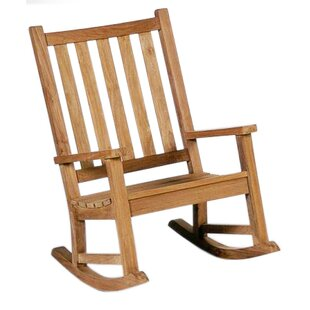 Teak Rocking Chair by D-Art Collection