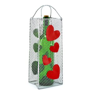 Gift Bag, Hearts 1 Bottle Tabletop Wine Rack by Three Star Im/Ex Inc.