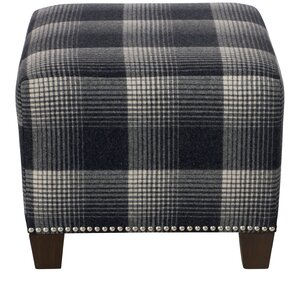 Ellwood Square Nail Button Ottoman by Darby Home Co